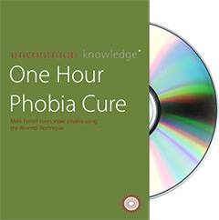 Image of snake phobia cure dvd cover with disc