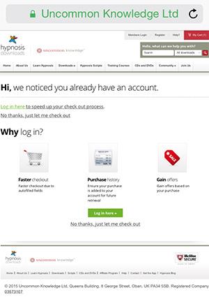 LogIn Prompt Screenshot